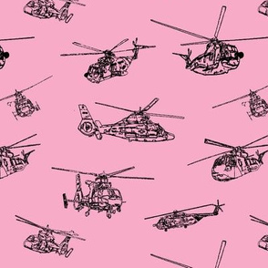 Choppers on Pink // Small
