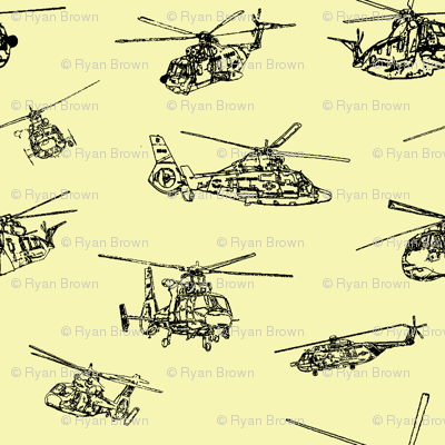 Choppers on Yellow // Large