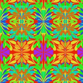 Summer Floral Plaid on Nasturtium - Medium Scale-ch
