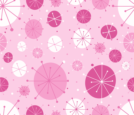 pink mod fabric by legendaryee on Spoonflower - custom fabric