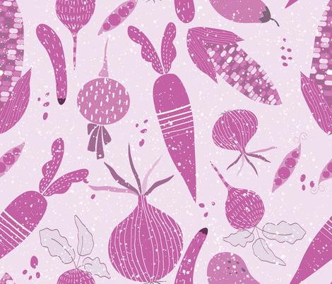 Purple vegees fabric by gkumardesign on Spoonflower - custom fabric