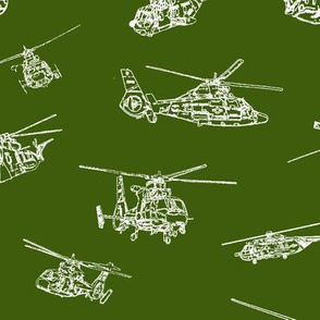 Choppers on Green // Large