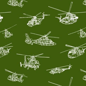 Choppers on Green // Small