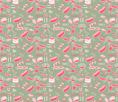 Cookout fabric by nazee on Spoonflower - custom fabric