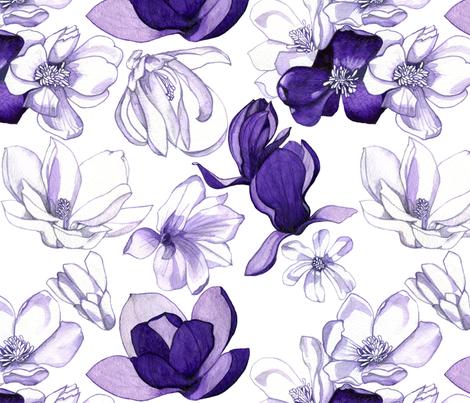 purple_magnolia_SP2_flat fabric by greemland on Spoonflower - custom fabric
