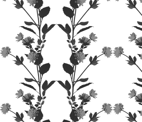 Mochome Florals fabric by ena_designs on Spoonflower - custom fabric