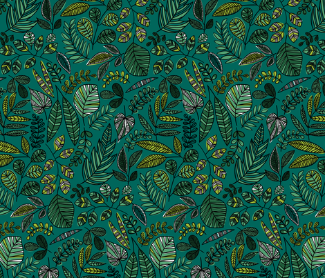 camo jungle leaves fabric by laura_may_designs on Spoonflower - custom fabric