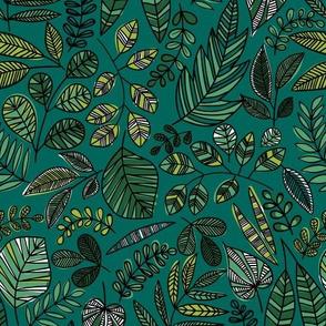 camo jungle leaves
