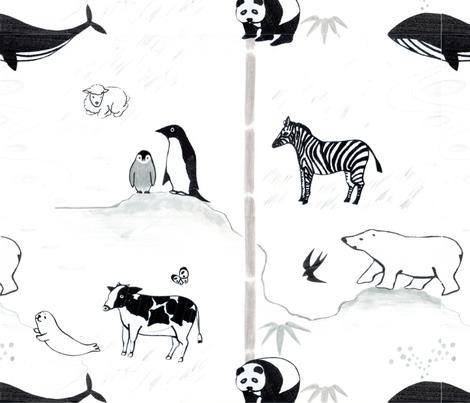 Animals fabric by prayer_birds on Spoonflower - custom fabric