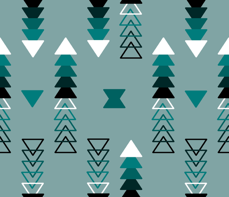 triangles on triangles fabric by mrpeabodydesigns on Spoonflower - custom fabric
