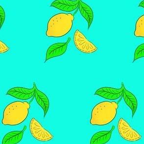Yellow and blue lemon design