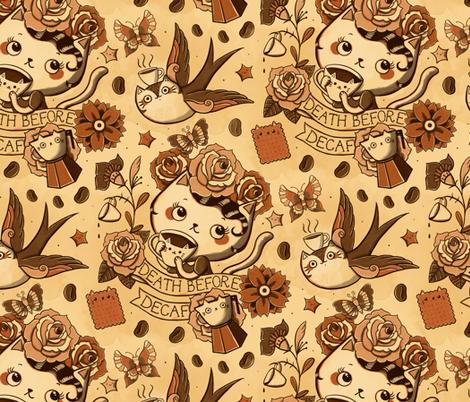 death before decaf  fabric by monika_suska on Spoonflower - custom fabric