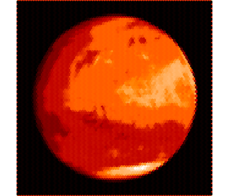 Mars in Red; Hex fabric by attnpd on Spoonflower - custom fabric