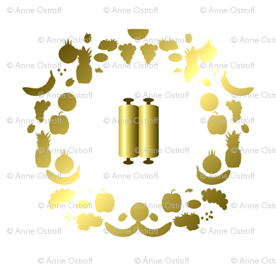 Shavuot, Gold on White