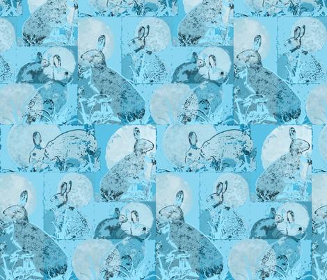 BlueHareMoon fabric by notbrownplaid on Spoonflower - custom fabric