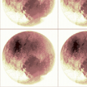 Pluto in Pink; Small Hex