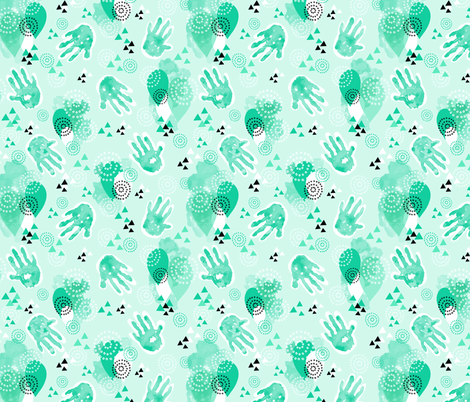 little hand prints  fabric by artypeaches on Spoonflower - custom fabric