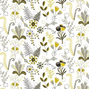 Fern garden in yellow
