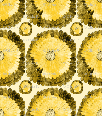 Blending Blooms - Yellow