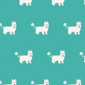 west highland terrier dog fart dog breed fabric westie teal