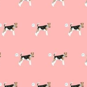 wire fox terrier dog fart dog breed fabric pink