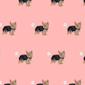yorkie dog fart yorkshire terrier dog breed fabric pink