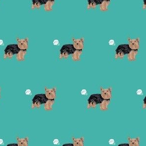 yorkie dog fart yorkshire terrier dog breed fabric teal