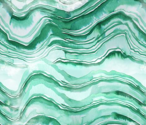green geode fabric by karismithdesigns on Spoonflower - custom fabric
