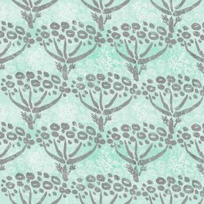 Herb-dill batik (grey-mint)