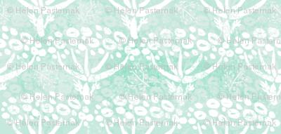 Herb-dill batik (white-mint)