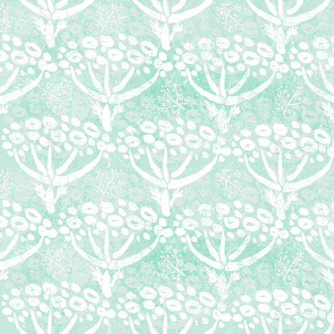 Herb-dill batik (white-mint) fabric by helenpdesigns on Spoonflower - custom fabric