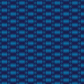 Postmark* (Jackie Blue) || snail mail postage envelope post postal geometric diamonds stars atomic midcentury modern
