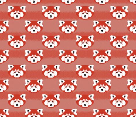 Red Panda fabric by doris_rguez on Spoonflower - custom fabric