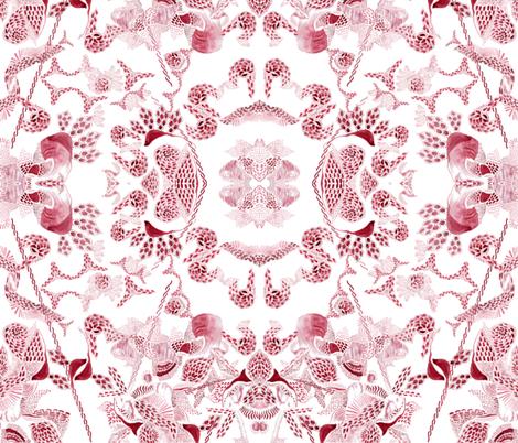 monochrome red birds  fabric by arrpdesign on Spoonflower - custom fabric