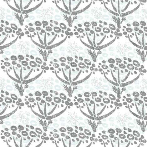 Herb-dill batik (grey-white) fabric by helenpdesigns on Spoonflower - custom fabric