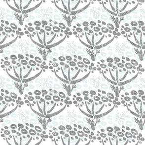 Herb-dill batik (grey-white)