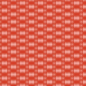 Postmark* (Tomato Soup) || snail mail postage envelope post postal geometric diamonds stars atomic midcentury modern
