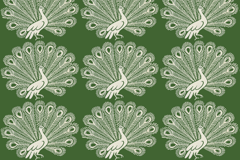 Peacock (olive) fabric by kate_rowley on Spoonflower - custom fabric