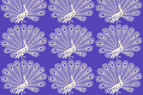Peacock (purple) fabric by kate_rowley on Spoonflower - custom fabric