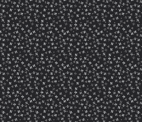 Bees Monochrome black white grey fabric by jaggedfin on Spoonflower - custom fabric