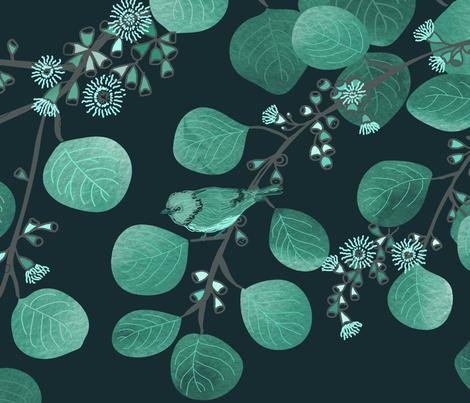 Eucalyptus Monochrome Large Scale fabric by honoluludesign on Spoonflower - custom fabric