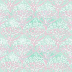 Herb-dill batik (pink-mint)