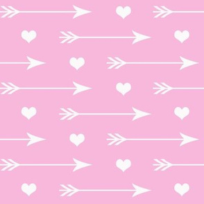 Hearts And Arrows Soft Pink