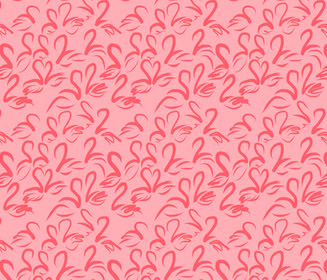 FLAMINGO FROLIC fabric by dempsey on Spoonflower - custom fabric