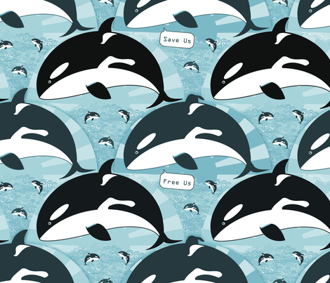 Free Orca  fabric by beth_snow on Spoonflower - custom fabric