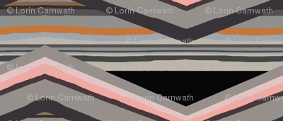 Geology unconformities zigzag stripes black