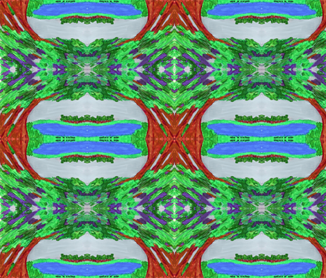 Tranquility fabric by valerie_dortona on Spoonflower - custom fabric