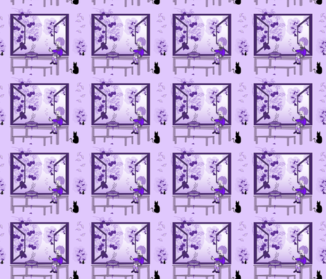Purple Thumb Maggie fabric by flower_wall on Spoonflower - custom fabric