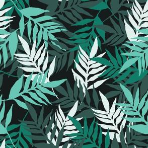 Tropical Leaves - Monochrome