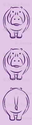 hippos on purple